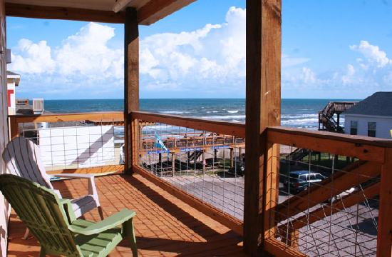 Surfside Beach, Τέξας: Ocean Village Hotel - View