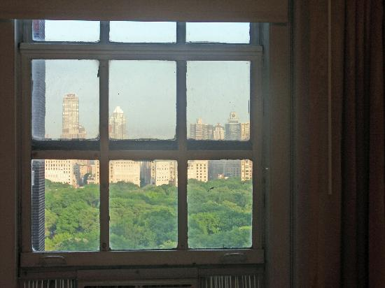 West Side YMCA: Bedroom window with view to Central Park