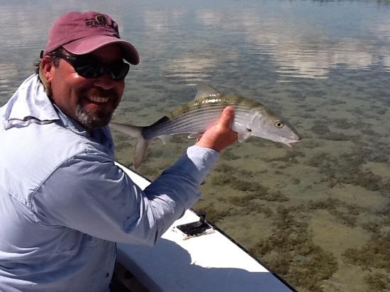 fresh Creek andros bonefish while staying at small hope bay lodge
