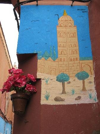 Riad Linda: Painting of Koutoubia at Derb Dabachi