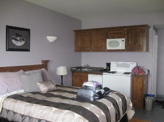 Antigonish Evergreen Inn: Single Room View from Opposite Corner (Facing Kitchenette)
