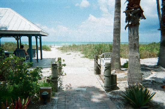 Sandpiper Inn: View of the beach from the inn