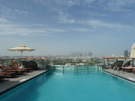 Hilton Dubai Creek: view from pool
