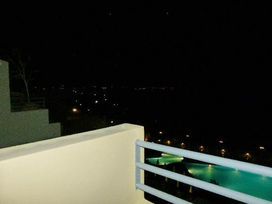 Balcony at night picture of blue marine resort spa