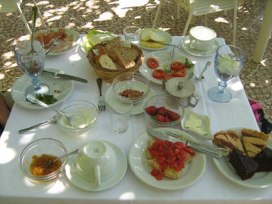 Albergo Il Castello : A typical breakfast served at Albergo Il Castelo!