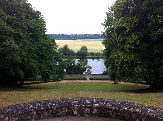 Le Château de Fontenay : View from the back of the house onto the river (Loire?)
