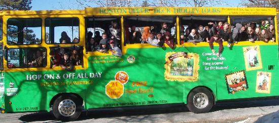 Boston Upper Deck Trolley Tours: Ride above traffic and see it all!