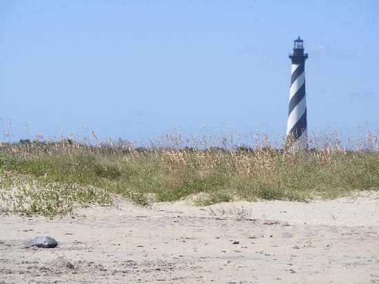 Cape Hatteras Lighthouse : Lighthouse by sea oats
