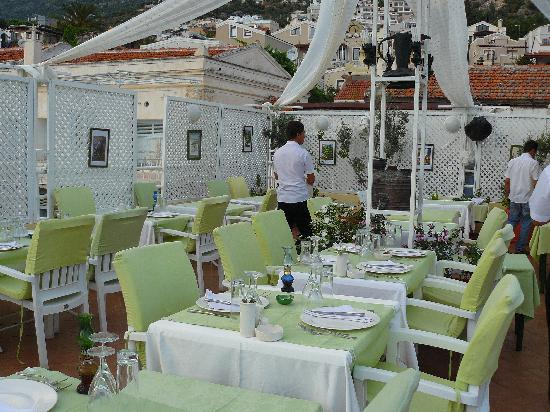 Olive Garden: The upper roof terrace