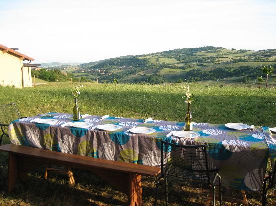 Les Buis du Chardonnet : Table set for dinner