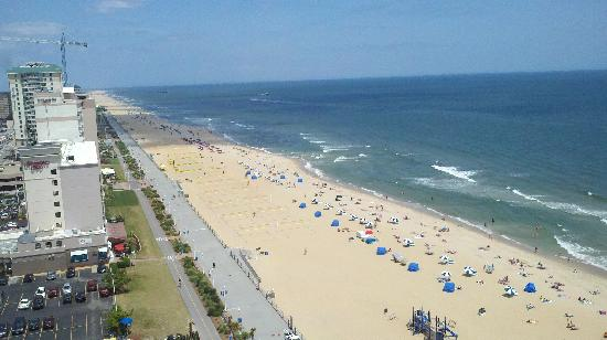Hilton Virginia Beach Oceanfront View From 16th Floor Balcony