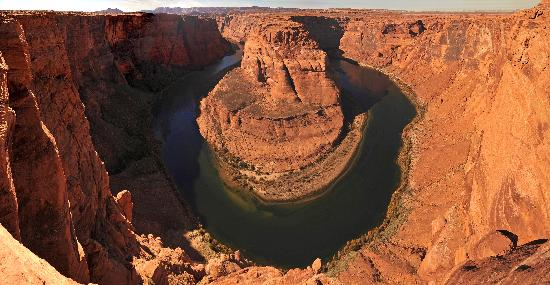 Horseshoe Bend: This is 3 photos 'stitched together' in photoshop elements