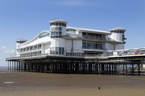 Weston-super-Mare, UK: gorgeous day, close up of Pavilion