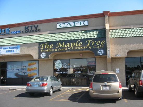 The Maple Tree Cafe : Exterior signage