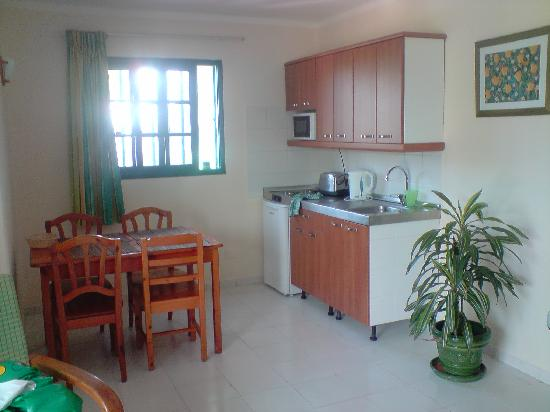 Playa Pocillos Apartments : Kitchen Area