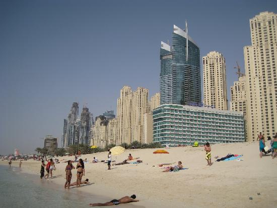 JA Oasis Beach Tower: OBT, Tall blue Buildings (left one)