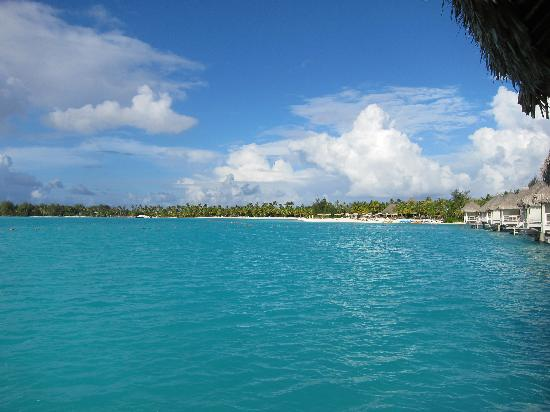 The St. Regis Bora Bora Resort: View to the right of our bungalow