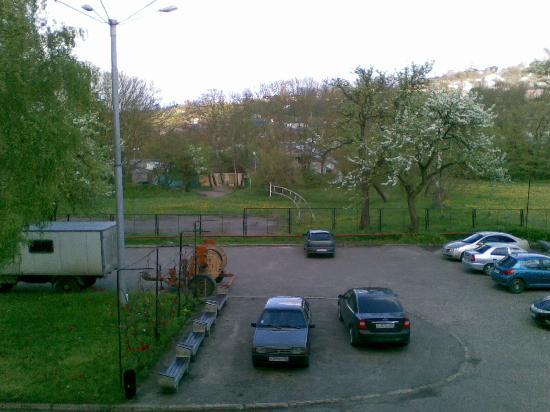 Hotel Dinamo: Parcheggio pineta