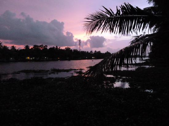 Ayana's Homestay: Sunset over the Backwaters
