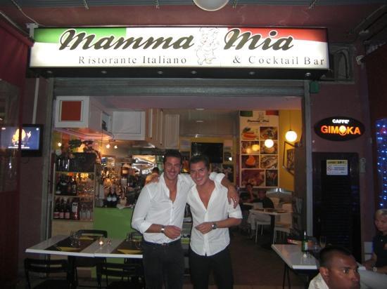 Mamma Mia Ristorante : charming boys - Stefano and Andrea