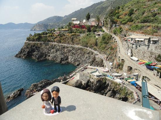 Luxury Apartments Manarola: view from the balcony, worth the hike