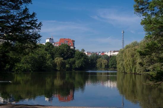 Pension Am Park: Der Lietzensee direkt gegenüber der Pension