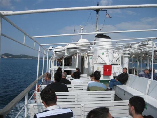 Elafiti Islands, Croatia: An Deck der MS Postira