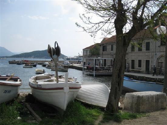 Elafiti Islands, Croatia: Insel Sipan, Am Hafen