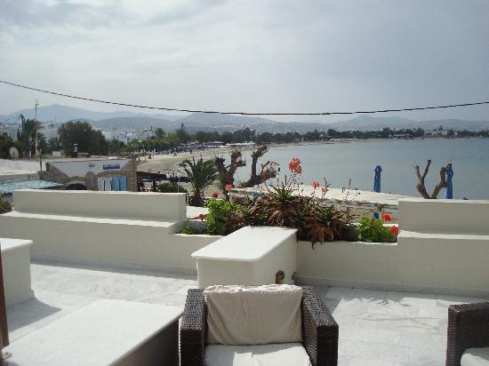 Nissaki Beach Hotel Naxos : Blick von der Terasse