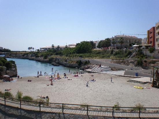 The Beach Opposite Hotel Port Ciutadella Picture Of Port