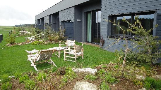 Hotel Restaurant Regis & Jacques Marcon : La terrasse 2