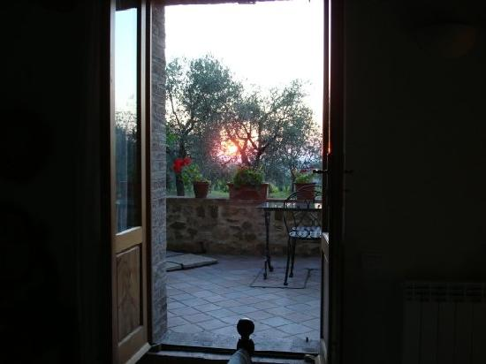 Le Maribelle Appartamenti: sunset from the bedroom