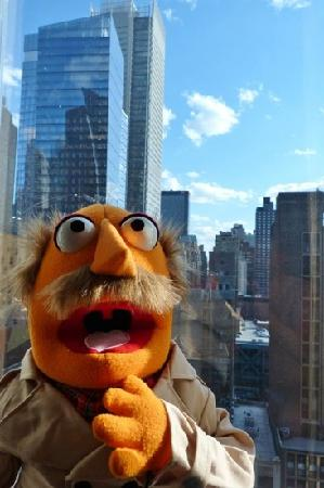 InterContinental New York Times Square: my FAO muppet takes in the view from the room