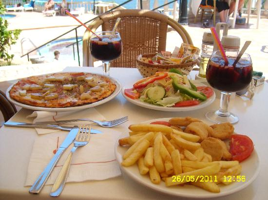 SENTIDO Punta del Mar : bar food