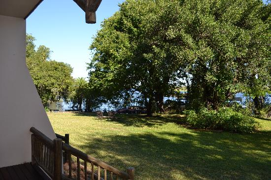 Chobe Safari Lodge: view from our room