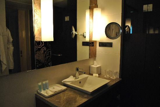 Hilton Chennai: Nice Bathroom With Makeup Mirror