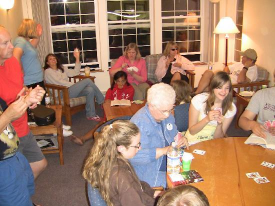 Cannon Beach Christian Conference Center : We really enjoy playing card games!