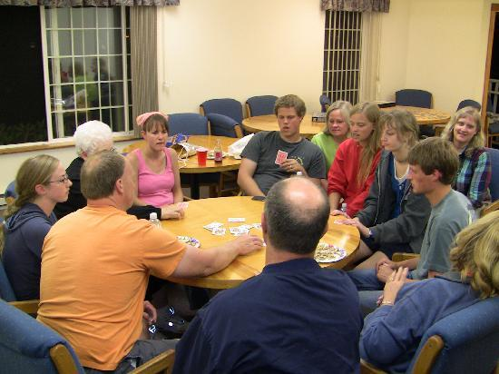 Cannon Beach Christian Conference Center: More games in the large meeting room.