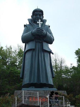 Kamiamakusa, Japan: 巨大な天草四郎像