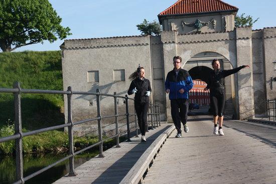 Running Copenhagen : Running through Kastellet - one of the world's oldest still functioning military bases
