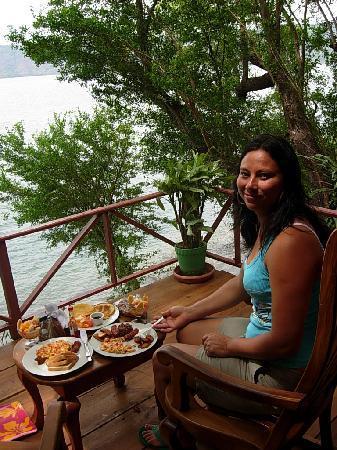 La Laguna de Apoyo, Nicarágua: colazione in camera