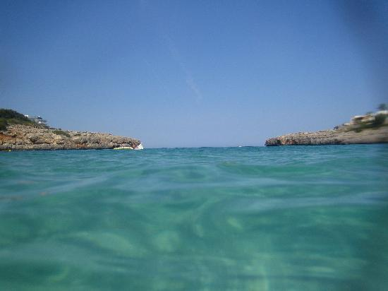 Porto Colom, Spain: In the crystal clear sea