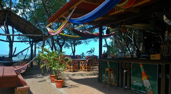 Playa Gigante, Nikaragua: Patio on the Beach