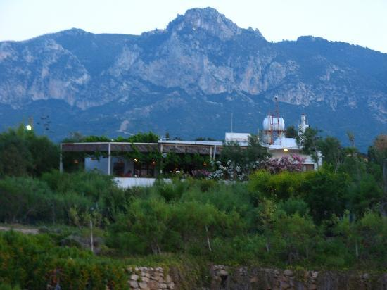 Agios Georgios, Siprus: View of the cafe from the beach