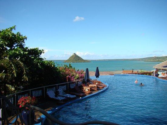 La Note Bleue Park Hotel: La piscine avec vue