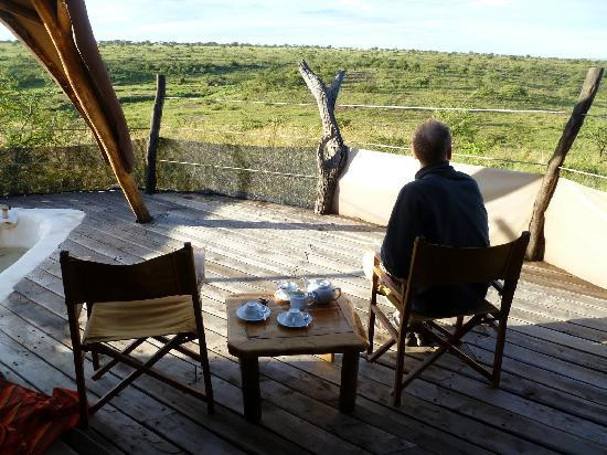 Amani Mara Camp: The view from our private balcony
