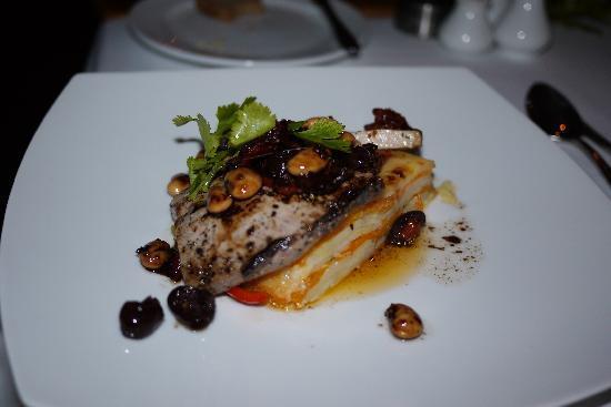 Schulphoek Seafront Guesthouse & Restaurant: dinner plat