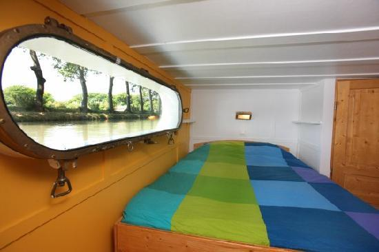 Villeneuve les Beziers, Frankrike: A view of Yellow Cabin of B&B Barge Durandal