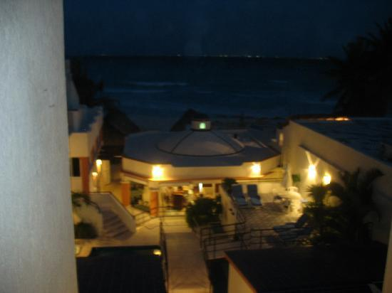 Playa Maya: the view from our room at night