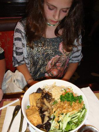 Pho at Treasure Island: Vegetarian soup with tofu
